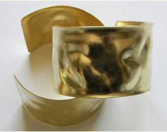 Brass Cuff, Blank Cuff, Wavy Adjustable Cuff Bracelet - 1 pc. (r137)