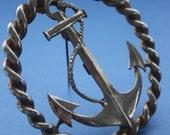 Nautical anchor brooch