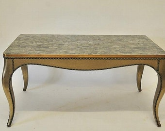 Coffee Table Low Table with Mica Top Cabriole Legs Gilded