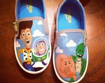 Disney Toy Story Shoes, Toms Shoes, Woody, Buzz, Hamm, Rex