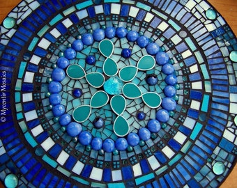 The Inner Workings of Blue (Free Shipping) Stained Glass