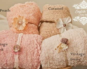 Pick 4~1 yardTextured open weave cotton Newborn Wraps, Newborn open weave stretch, Baby Wrap, stretchy gauzey photo blanket, all cotton, 15+