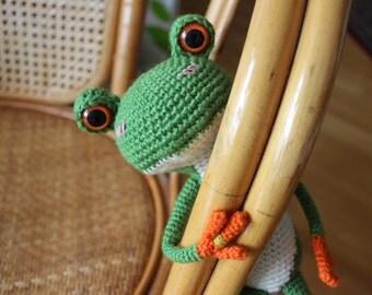 DO NOT PURCHASE, Sold, ooak, Tree Frog Amigurumi, Tree Frog Plushie, Crochet Doll, Animal Doll