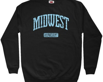 Midwest Represent Sweatshirt - Men S M L XL 2x 3x - Crewneck Midwest Shirt - 4 Colors