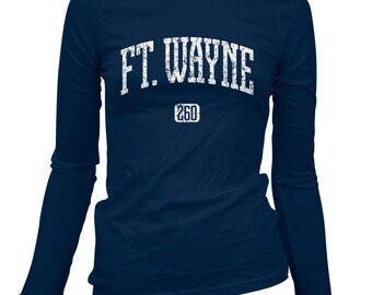 Women's Ft. Wayne 260 Long Sleeve Tee - LS Ladies T-shirt - S M L XL 2x - Fort Wayne Indiana - 2 Colors