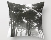 Forest Landscape Sofa Pillow, Muted Accent Pillow, Neutral Throw Pillow Cover, 18x18 24x24 Decorative Pillow Cushion