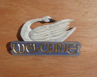 White  Swan Welcome Sign