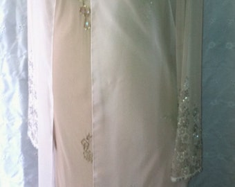 Vintage gold chiffon jacket with beaded cuffs