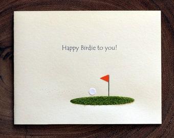 Golf Birthday Card  - Happy Birdie to you!
