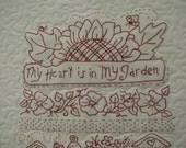 Quilt Wall Hanging Garden Poem