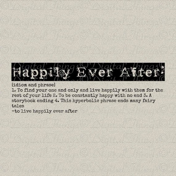 Happily ever after definition fairy tale typography word art for Tale definition