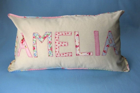 Pink personalised cushion ByElsieB