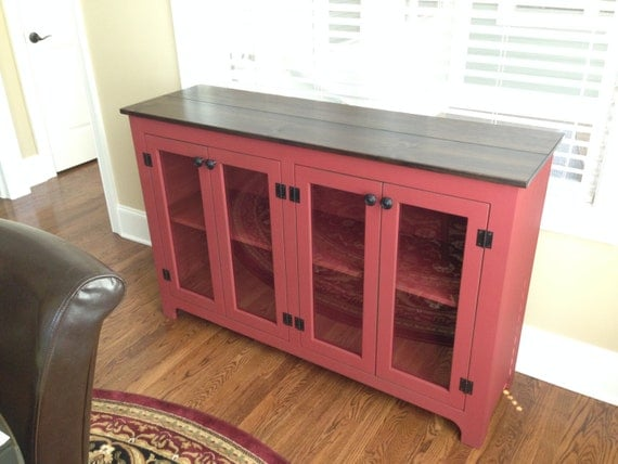 Like this item? - Painted Buffet Red Sideboard Large Buffet Credenza