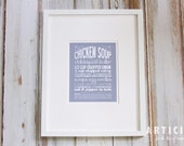 Chicken Soup Kitchen Art Print with Handlettering