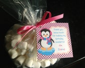 Cute Penguin Favor Tags Winter Onederland