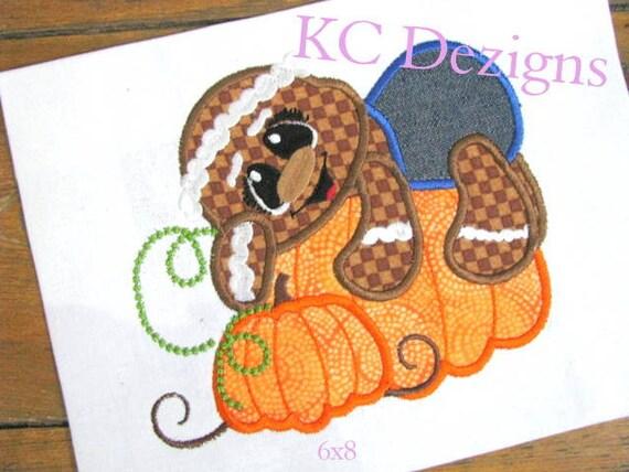 Spicy Pumpkin Ginger 02 Machine Applique Embroidery Design - 5x7 & 6x8