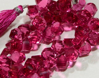 Pink Quartz Faceted Beads Natural Gemstone Beads Jewelry Making Supplies
