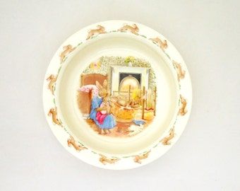 "Vintage Royal Doulton ""Bunnykins"" Porridge Bowl, UK Seller"