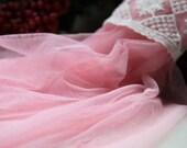 pink tulle fabric, gauze tulle lace fabric, grenadine fabric