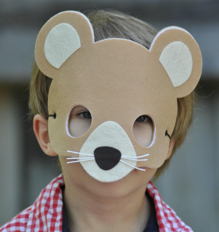 mouse mask felt animal mask mouse costume kids halloween