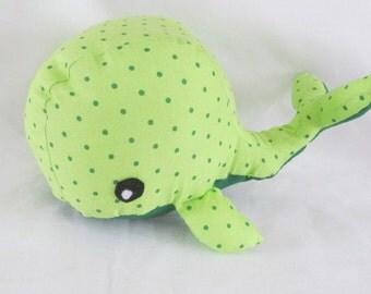 AL-G the Green Stuffed Whale