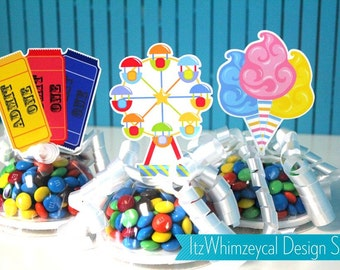 Carnival Circus Candy Favor Containers