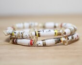 Are You My Mother Book Bead Bracelet Set, Paper Beads Made From Recycled Book Pages, Mothers Day Gift, Mom Gift, Teacher Gift, Mother Gift