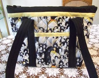 Penguin Handmade Machine Quilted Purse
