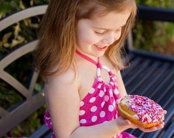 Doughnut Girls Hair Accessories - Felt Hair Clippies -Embroidered Felt Donut with Sprinkles Boutique Hair Clip-No Slip Grip