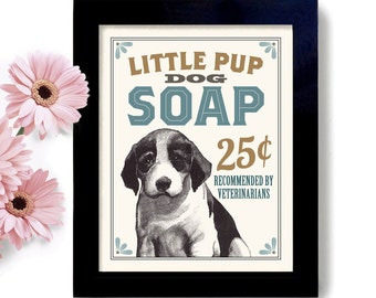 Laundry Room Decor Dog Art Puppy Art Sign Wall Art Print Washing Machine Soap Dirty Dog Mud Room Kitchen Art Bathroom Art