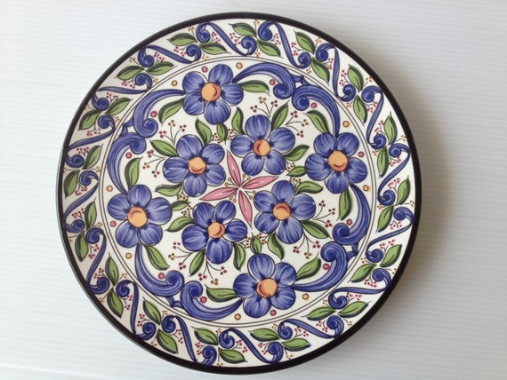 Decorative Wall Plates For Hanging: Handpainted Wall Hanging Plate Decorative Plate Spanish
