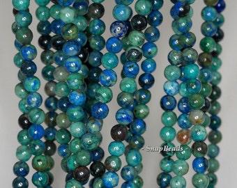 4mm Chrysocolla Gemstone Blue Green Round Loose Beads 16 inch Full Strand (90190702-170)