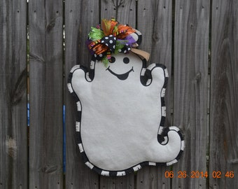 Ready to Ship - Ghost Burlap Door Hanger