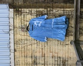 Texture Plays / Oversized Hand-Dyed Dress/ Upcycled/ Cotton / Shirt / Fun / Adorable