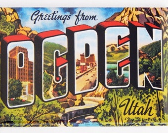 Greetings from Ogden, Utah Fridge Magnet