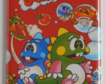 Bubble Bobble Video Game Fridge Magnet