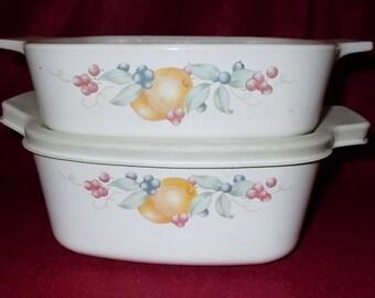 Corelle Abundance Casserole Set Of 4 Bowls Corelle Corning Glass Cookware Corning Ware Fruits Oven to Table Kitchen Glassware
