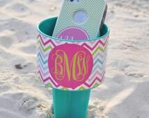 Monogrammed Beach & Sand Spiker® - Personalized Sassy Chevron Spiker