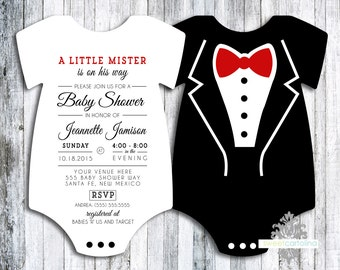 Tuxedo Baby Shower Invitation - set of 30