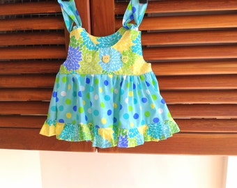 Sewing Pattern Girl's Dress/Top, Newborn, Baby, Infant Toddler Dress Pattern, Mia Ruffled Top