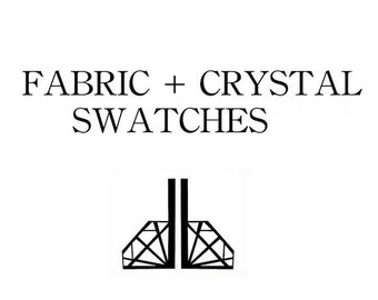 Sample color match, crystallized fabric swatch