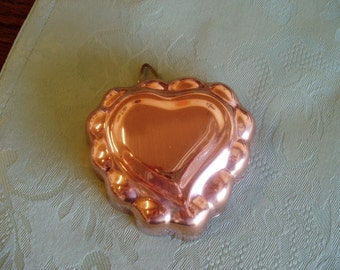 Copper Anodized Alumimum Heart Jello Cake Mold with Hanging Loop Wall Hanging