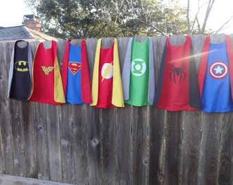 Super Hero Cape - Two Sided - Handmade and Reversible