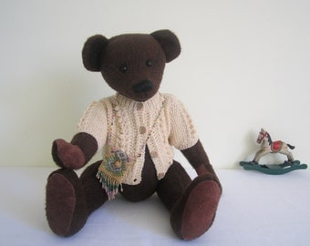 HANDMADE artist bear, German mohair - Rosie May, OOAK, hand stitched