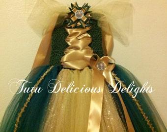 Princess Merida Brave Tutu Dress~ Princess Party~ Brave Dress~Pageant Dress~ Kids Birthday Tutus~
