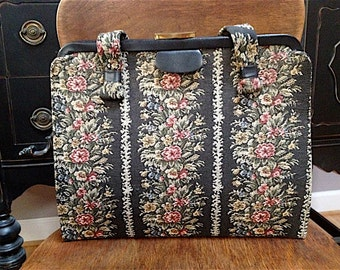 1960s Vintage Large Tapestry Purse