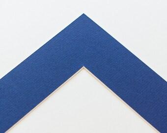 5x7 Single Photo Mat - Limoges Blue for 8x10 Frame