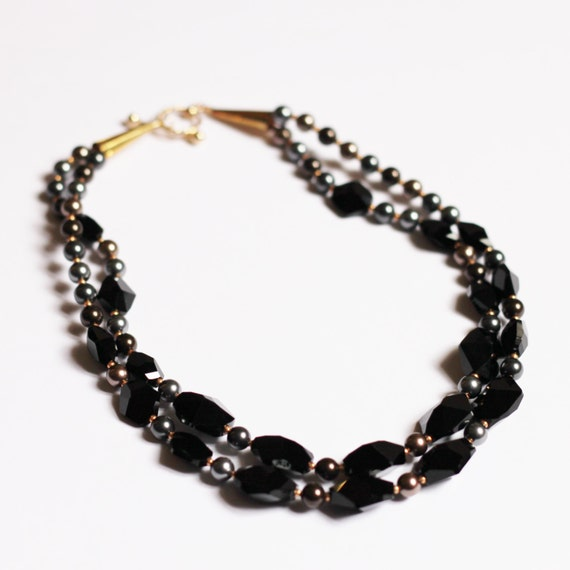 Majesté Black Necklace, earrings and bracelet