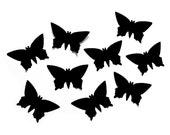 Handpunched big butterflies in black cardboard