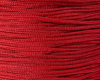 1mm Dark red nylon cord - nylon thread - chineese Knotting Cord - Macrame thread (1454) - Flat rate shipping